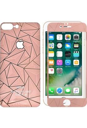 Sonmodashop Apple iPhone 7 Plus Ön Arka 3D Rose Gold Ekran Koruyucu