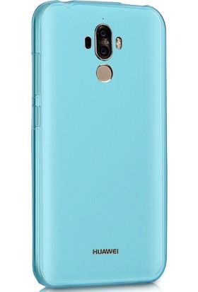 Sonmodashop Huawei Mate 9 Kılıf Ultra İnce Silikon + Cam