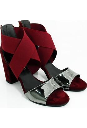 Lider Topuklu Kadın Ayakkabı-Bordo-113302-03