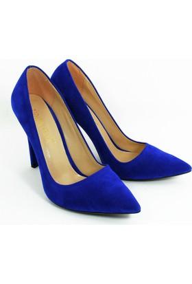 Rıdvan Çelik Kadın Stiletto Topuklu Ayakkabı-Kadife Laci-113336-02