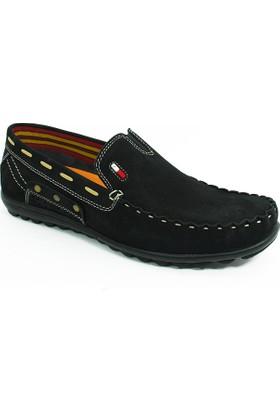 Diego Carlotti Loafer Erkek Hakiki Deri Ayakkabı-Siyah-113354-01