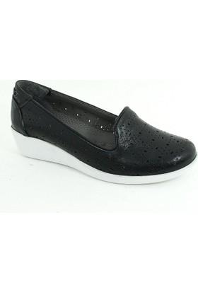 Diego Carlotti Kadın Günlük Deri Anne Ayakkabı-Siyah-113371-02
