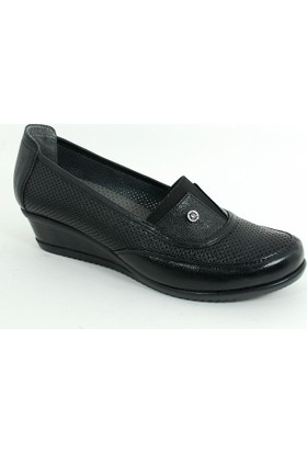 Diego Carlotti Kadın Günlük Deri Anne Ayakkabı-Siyah-113372-02