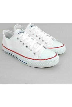 Street Kadın Günlük Keten Konvers Ayakkabı-Beyaz-113377-01