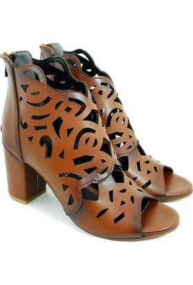 Lider Topuklu Kadın Ayakkabı-Lazer Kahve-113346-02