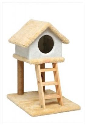Mihavpet Merdivenli Tırmalamalı Kedi Evi