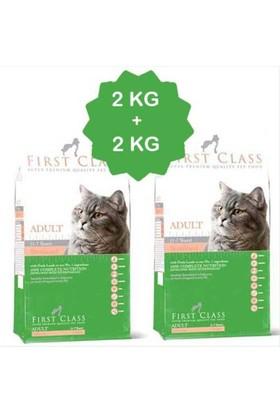 First Class Somonlu Kısırlaştırılmış Kedi Maması 2 Kg + 2 Kg