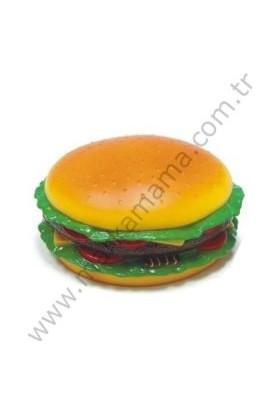 Bobo Plastik Sesli Hamburger Köpek Oyuncağı