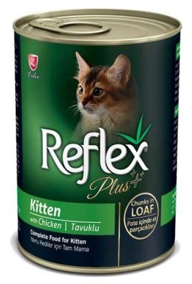 Reflex Plus Tavuklu Yavru Kedi Konserve Pate İçinde Et Parçacıklı 400 Gr