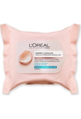 L'Oréal Paris Değerli Çiçekler Makyaj Temizleme Mendilleri Normal ve Karma Ciltler