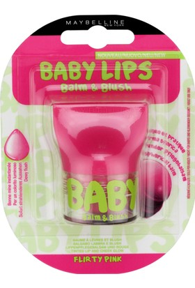 Maybelline New York Baby Lips Balm&Blush Dudak ve Yanak Balmı - 02 Flirty Pink
