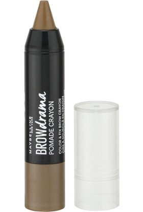Maybelline New York Brow Drama Pomade Crayon - 02 Medium Brown