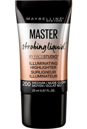 Maybelline New York Master Strobing Liquid Aydınlatıcı - 200 Medium/Nude Glow