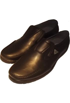 Güler Siyah Cilt Açma Deri Kışlık Erkek Ayakkabı