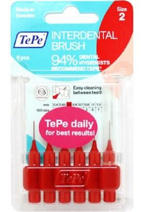 Tepe Interdent Brush Red 0.5Mm 6Lı Blister Size 2