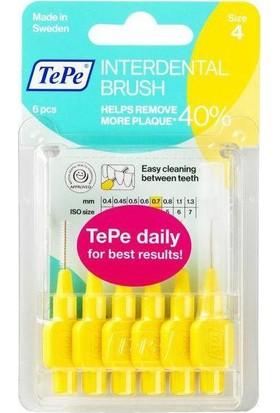 Tepe Interdent Brush Yellow 0.7Mm 6Lı Blister Size 4