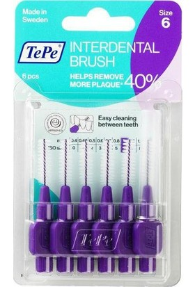 Tepe Interdent Brush Purp 1.1Mm 6Lı Blister Size 6