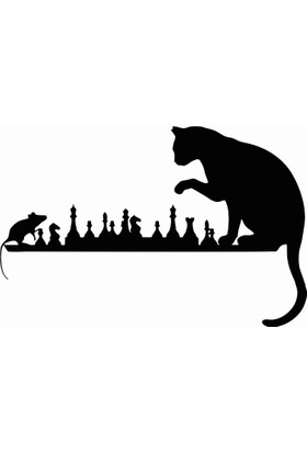 Stickermarket Kedi Fare Beyaz Sticker