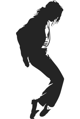 Stickermarket Micheal Jackson Beyaz Sticker