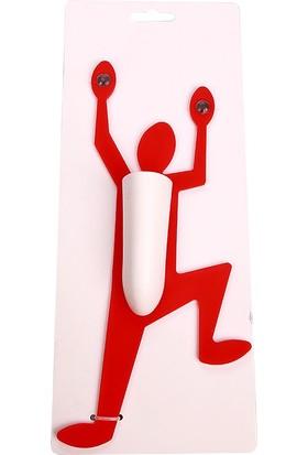 Hunga Duvara Tırmanan Adam Diş Fırçalık Kırmızı