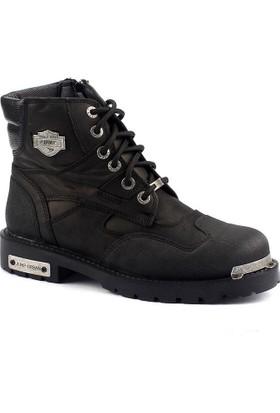 Jump 16516 Termal Deri Motorcu Çizme Erkek Bot Ayakkabı