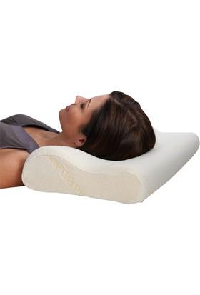 Boyun Destekli Ortopedik Visco Yastık 55 x 35 cm Yumuşak Yastı