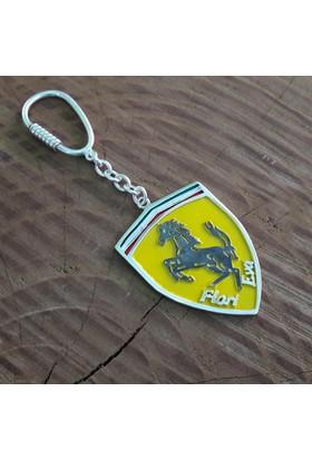 Midyat Nurtaş Gümüş İsimli El Yapımı Gümüş Ferrari Anahtarlık