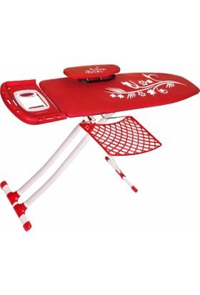 Laisy Cotyora Ütü Masası - Monoblok - Kırmızı