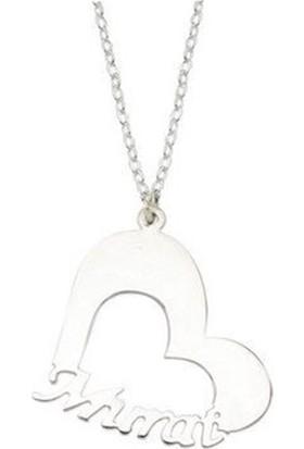 Soufeel Kişiye Özel 925 Ayar Kalp Gümüş Stil Yazı İsim Kolye