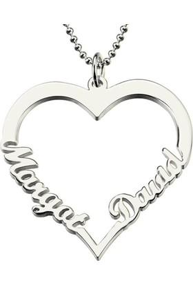 Soufeel Kişiye Özel Aşk 925 Ayar Gümüş Kalp İsim Kolye