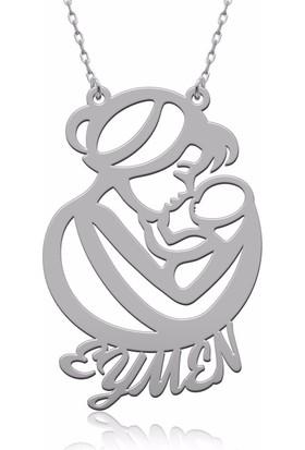 Soufeel Kişiye Özel 925 Ayar Gümüş Tasarım Anne Bebek İsim Kolye