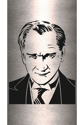 Dekoragel Atatürk Portre Metal Duvar Dekoru