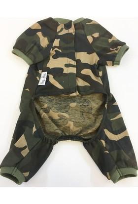 Dogi & Dog Askeri Köpek Pijaması-Köpek Kiyafeti-Köpek Elbisesi