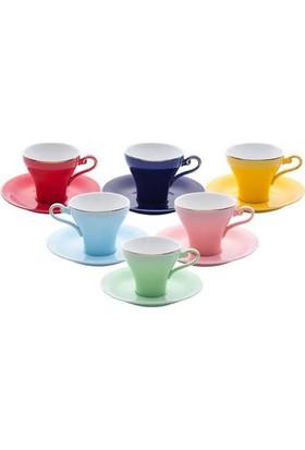 Emsan Versay Classic 6 Kişilik 12 Parça Porselen Kahve Fincan Takımı