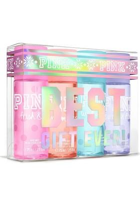 Victoria'S Secret Pınk Serisi 4Ad 75Ml Body Mist Fresh Clean & Warm Cozy & Sweet Flirty & Cool Bright