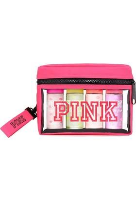 Victoria'S Secret Pink Warm Cozy, Fresh Flean,Sun Kissed ,Total Flirt Çantalı Ve Anahtarlık li Set