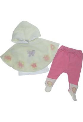 Baby Rose Kız Bebek Çiçekli Pançolu Takım