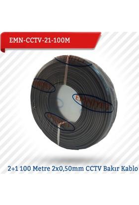 Emnıyet 2+1 100 Metre 2X0,50Mm Cctv Bakır Kablo Emn-Cctv-21-100M