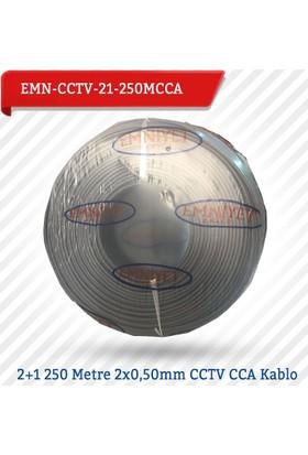 Emnıyet 2+1 250 Metre 2X0,50Mm Cctv Cca Kablo Emn-Cctv-21-250Mcc