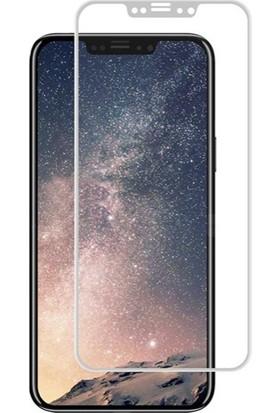 Dafoni iPhone X Curve Tempered Glass Premium Full Beyaz Cam Ekran Koruyucu