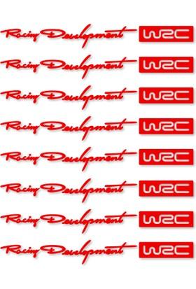 Otografik - WRC Racing Development Kapı Kolu Oto Sticker Set 8 Adet Kırmızı