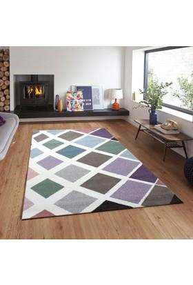 Merinos Pastel 21668 120x170 cm Renkli Kareli Modern Halı