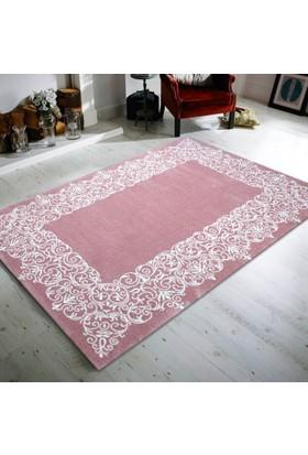 Merinos Pastel 21984-55 120x170 cm Pembe / Beyaz Modern Halı