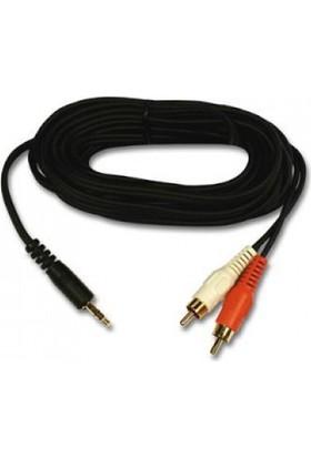 Azemax 1.5 Metre 2Rca 3.5 Stereo Kablo