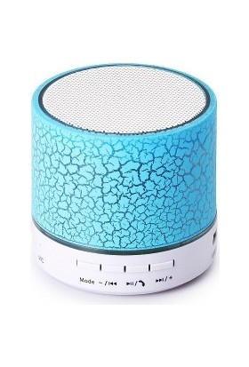Azemax Işıklı Yuvarlak Bluetooth Hoparlör Ses Bombası Usb TF S60U