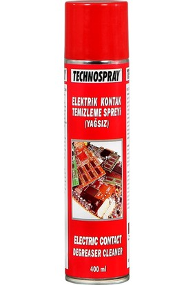 Technospray Kontak Temizleme Sprey (Yağsız) - 250 ml