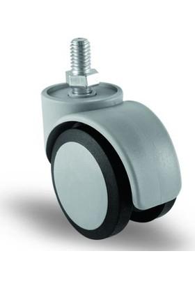 4 Adet Ec05Mkt50, Oynak Civatalı Mobilya Tekerleği Sehpa Tekeri, Çap:50, 4Lü Set, Geniş Sessiz Tip