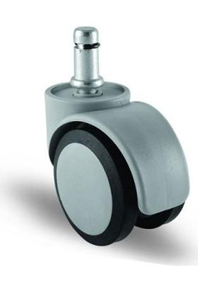 5 Adet Ec03Mkt50, Pimli Mobilya Tekerleği Koltuk Tekeri, Çap:50, 5Li Set, Geniş Sessiz Tip