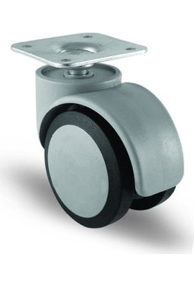 4 Adet Ec01Mkt50, Oynak Tablalı Mobilya Tekerleği Sehpa Tekeri, Çap:50, 4Lü Set, Geniş Sessiz Tip