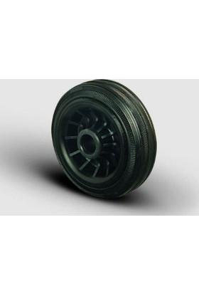Burçlu, Kauçuk Plastik Jantlı Kauçuk Kaplı Tekerlek Çap: 125 - Mkr 125X37.5